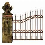 Gate Graveyard Gates Cemetery Fence Clipart Transparent