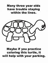 Parking Turtle Coloring Note Lines Printable Ticket Line Asshole Drivers Anonymous Bad Within Version Help Staying Three Practice Many Maybe sketch template