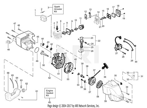 Eater Diagram by Poulan Xt25 Gas Trimmer Parts Diagram For Engine Assembly