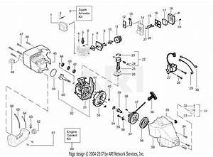Poulan Xt25 Gas Trimmer Parts Diagram For Engine Assembly