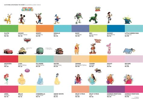 disney color scale all things disney