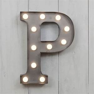 vegas metal led circus letter light p by all things With metal wall letters with lights