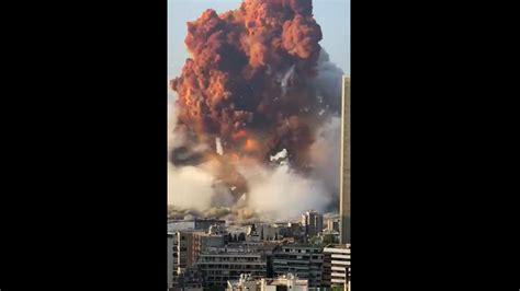 Watch: Massive blast rocks Lebanon's capital, explosion ...