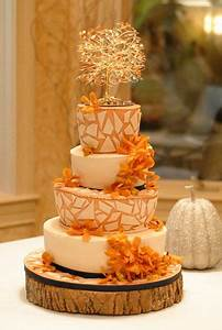 24 Great Ideas for Fall Wedding Cake Decoration - Style