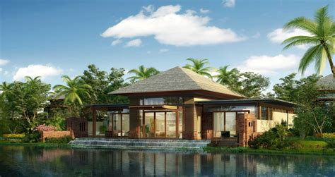 A Luxury Tropical Resort Bungalow.