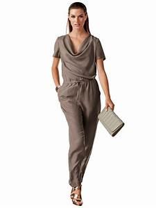 Combinaison Femme Pour Mariage : combinaison tenue de mariage col benitier soie costumes ~ Mglfilm.com Idées de Décoration