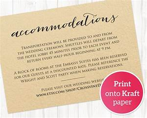 wedding accommodations card insert wedding templates and With wedding invitation insert with accommodations