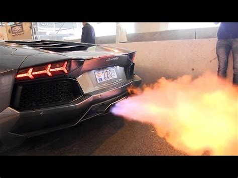 the best supercar exhaust flames youtube
