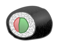 drawing cartoon sushi