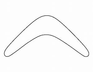 boomerang pattern use the printable outline for crafts With australian boomerang template