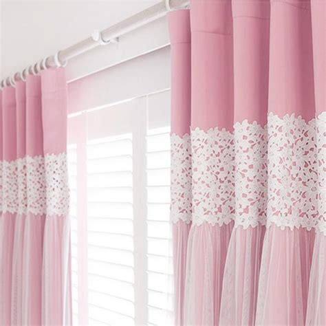 Pink Curtains by 2xcustom Shabby Chic Princess Solid Pink