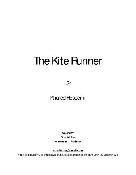 Permalink to The Kite Runner