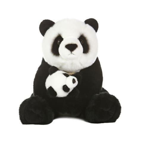 realistic stuffed mother panda bear with cub by aurora