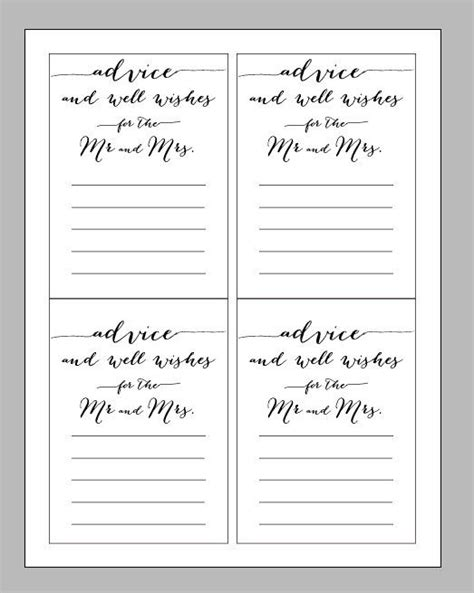 17 best ideas about wedding advice cards on