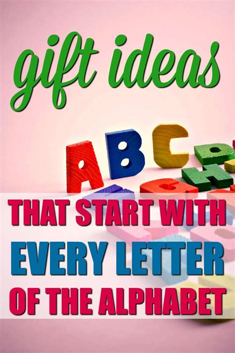 presents that start with n gifts that start with the letter a