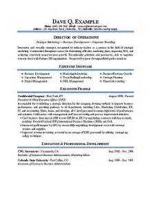 director resume template director of operations resume sle recentresumes