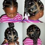 twists hairstyle front view African American little