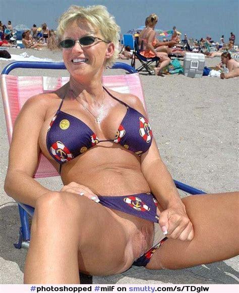 Milf Beach Bigtits Flashingpussyinpublic