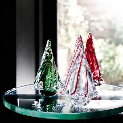 red glass christmas tree glass tree stripe williams sonoma