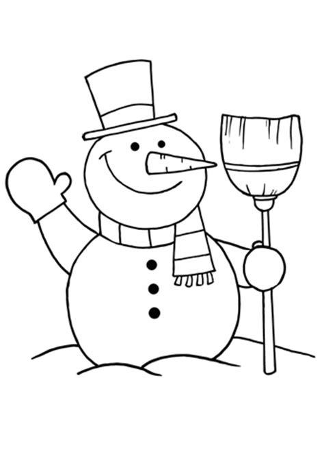 kleurplaat sneeuwpop  gratis sneeuwpop kleurplaten