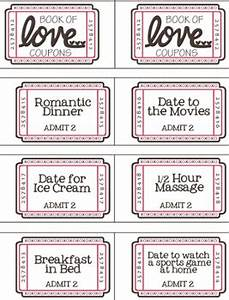 free printable valentine coupon booklet homemade day With romantic coupon book template