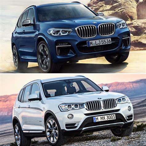 photo comparison g01 bmw x3 vs f25 bmw x3