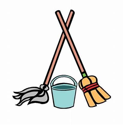 Mop Cleaning Bucket Cartoon Painting Volunteers Needed