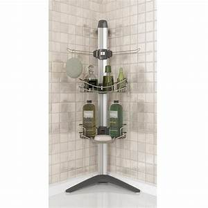 Porte accessoires de sol pour la douche plomberie artika for Porte accessoires pour douche