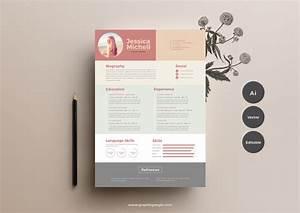 Free Simple  U0026 Elegant Resume Templategraphic Google  U2013 Tasty Graphic Designs Collection