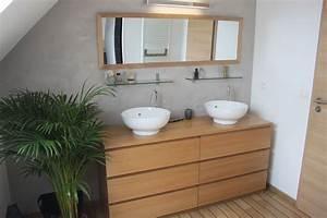 Vasque Salle De Bain Ikea : commode malm ikea d tourn e en meuble de salle de bains double vasque d co en 2018 pinterest ~ Teatrodelosmanantiales.com Idées de Décoration