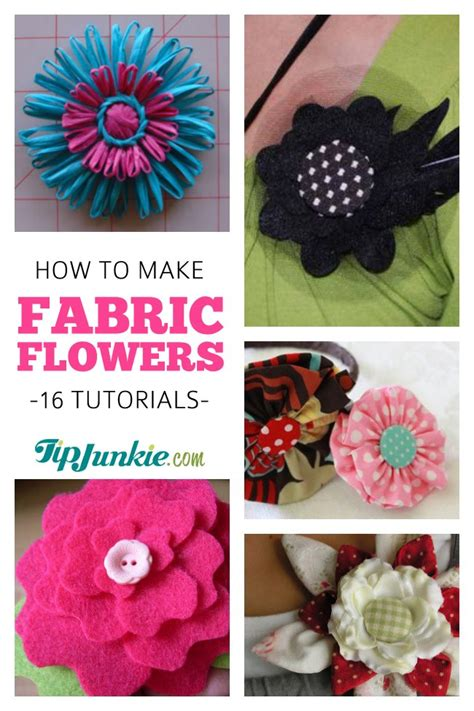 How To Make Upholstery Patterns how to make fabric flowers 16 patterns and tutorials