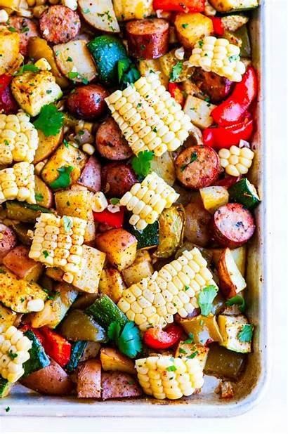 Pan Sausage Sheet Veggies Healthy Recipe Recipes