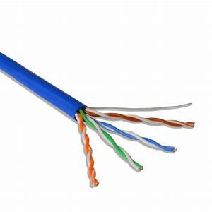 Cat5e Utp Solid Blue Lan Network Ethernet Cable