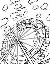 Wheel Ferris Coloring Pages Printable Sheet Wheels Sheets Pdf Colouring Coloringcafe Books Button Prints Standard Below Print sketch template
