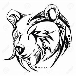 Grizzly Bear Face Outline | www.pixshark.com - Images ...