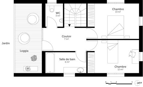 Plan Maison Etage 3 Chambres by Plan Maison 224 233 Tage 3 Chambres Ooreka