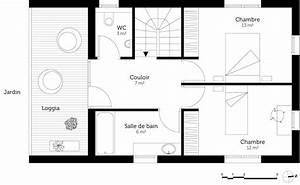 plan chambre dressing cheap plan chambre parentale avec With modele plan de maison 13 suite parentale sous les combles 224 lambersartplux