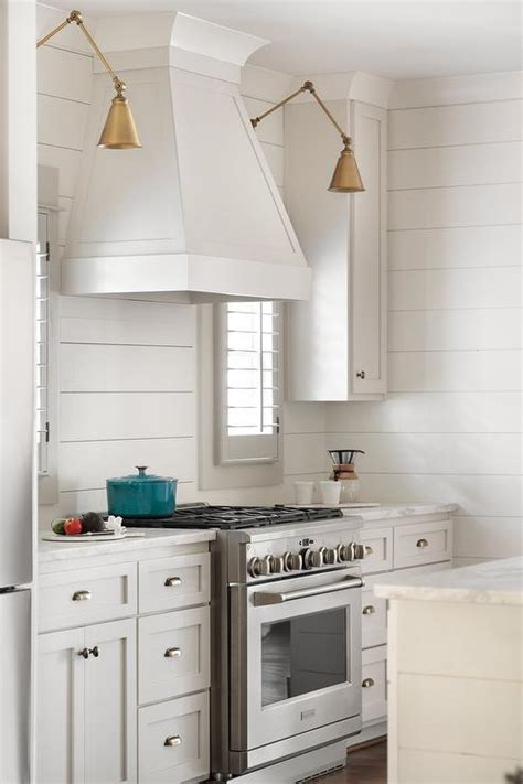 Kitchens With Shiplap Walls by Kitchen With Horizontal Shiplap Backsplash Cottage Kitchen