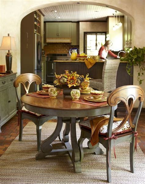 Marchella Sage Round Dining Table   Table and chairs