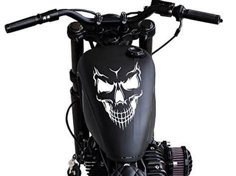 Motorcycle Skull Gas Tank Decal sticker   Awesome Skulls