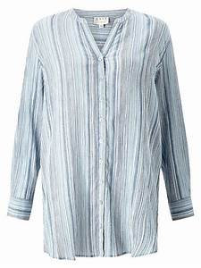 East Stripe Cheesecloth Shirt Blue - House of Fraser