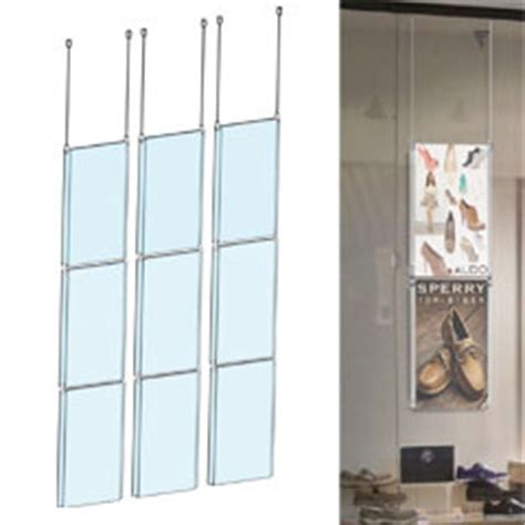 ceiling hanging signs w cable display kit