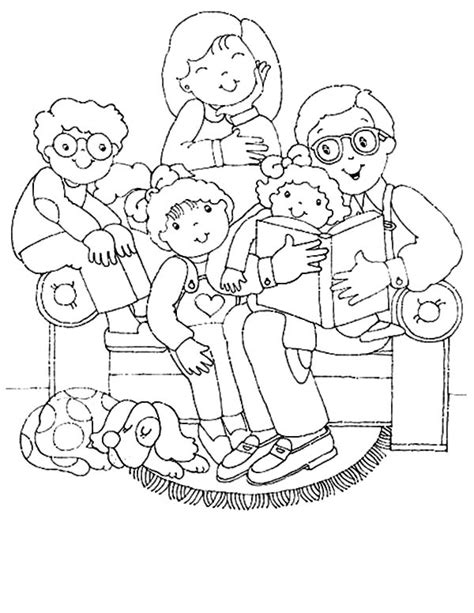coloring pages  family members printable esl eal