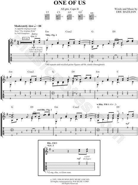 joan osborne    guitar tab   minor
