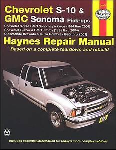 Chevy S10  Sonoma  Blazer  Jimmy  Bravada  Repair Manual