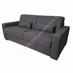 canape convertible dm michel micro gris fonce couchage With canapé lit convertible 140x190