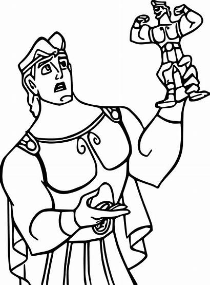 Hercules Coloring Pages Action Wecoloringpage