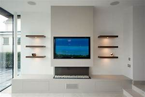 Modern media wall harrogate inglish design bespoke for Media wall design