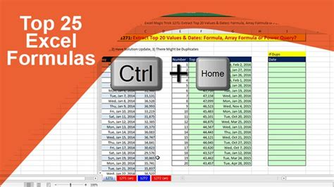 Top 25 Excel Formulas   Stone River eLearning   eLearning ...