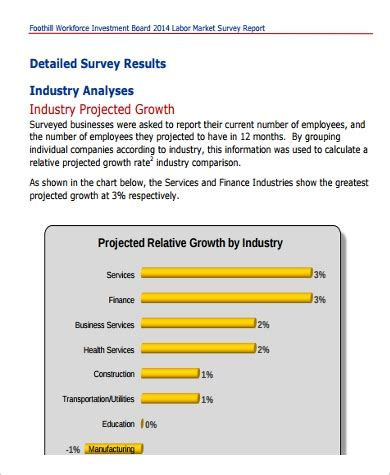 Sle Of Market Survey Report by Sle Survey Report 9 Exles In Pdf Word